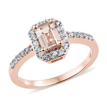 Moroppino Morganite, Zircon Ring in Sterling Silver 1.5 Ct