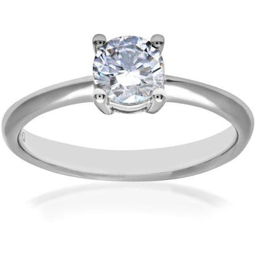 Naava Women's Platinum GIA Certified Diamond Solitaire Engagement Ring, Size L