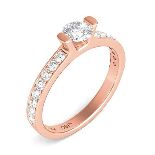 Diamond Studs Forever 3/4 Ct tw Diamond Engagement Ring GH/I1 14K Rose Gold