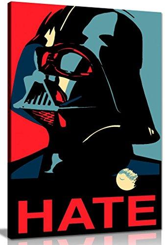 Star Wars Darth Vader Pop Art Canvas Wall Art Picture Print (24x16in)