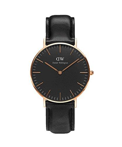 DANIEL WELLINGTON - Watch wife 36 mm, DANIEL WELLINGTON CLASSIC BLACK SHEFFIELD ROSE GOLD DW00100139