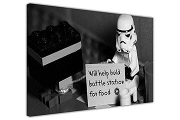 Canvas It Up CANVAS QUOTE WALL ART PICTURES STAR WARS STORMTROOPER WITH SIGN POP ART PHOTO PRINTING