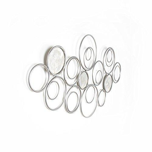 Art for Home Eternal Swirl Metal Decorative Wall Art Silver