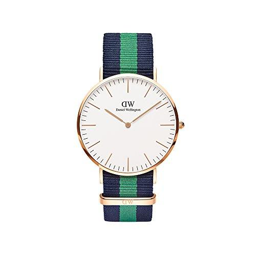 Daniel Wellington Men's Quartz Watch Classic Warwick 0105DW with Nylon Strap