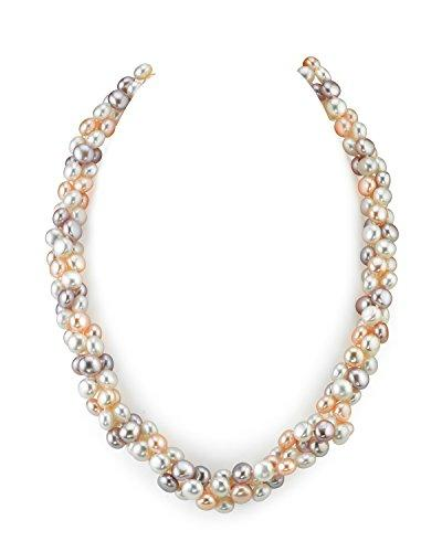 5mm Multicolored Freshwater Cultured Pearl Necklace