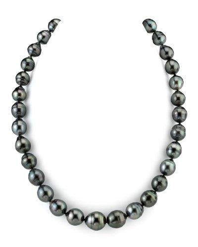 14K Gold 10-11mm Tahitian South Sea Baroque Cultured Pearl Necklace - AAA Quality, 17
