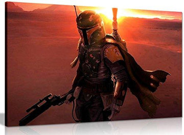 Star Wars Bobba Fett Canvas Wall Art Picture Print (18x12in)