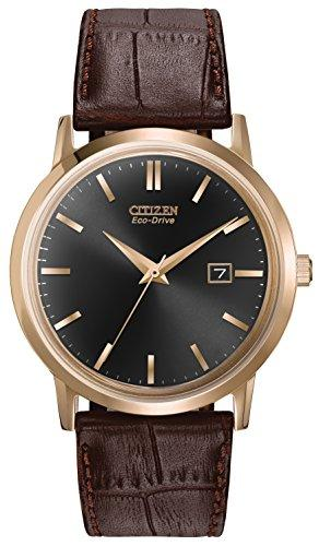 Citizen Men's BM7193-07E Eco-Drive Rose Gold Tone Date Watch