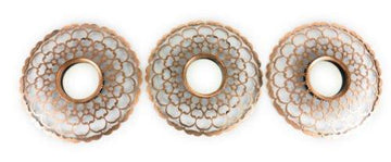 SET OF 3 Bronze Copper Gold Moroccan Swirl Wall Mounted Vintage Style Mirrors Wall Art Home Bathroom Living Room Decor
