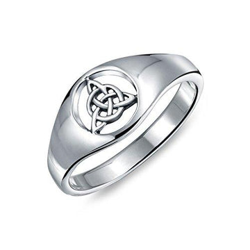 Open Celtic Triquetra Knot Sterling Silver Ring