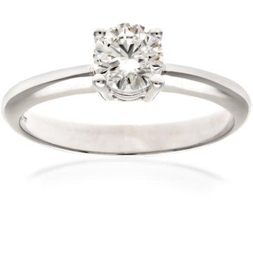 Naava Women's Platinum GIA Certified Diamond Solitaire Engagement Ring, Size P