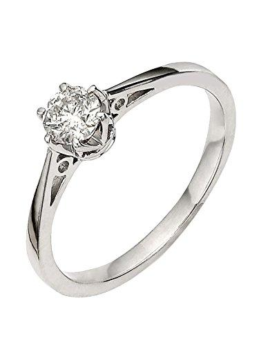 premium 1/6 carat diamond solitaire engagement ring Size P