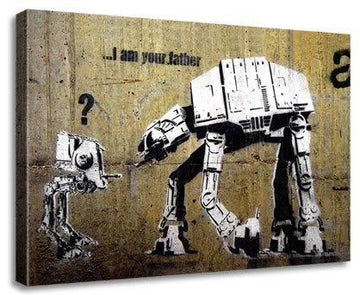 Banksy Star Wars Framed Canvas Print A1 (30