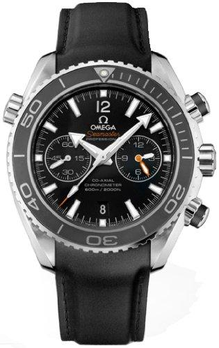 Seamaster Planet Ocean Chrono Black Dial Rubber Men's Watch