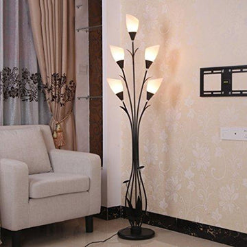 Fashion Floor Lamp Living Room Bedroom Iron Art Decorative Lights, E14*5, W40 * H161cm
