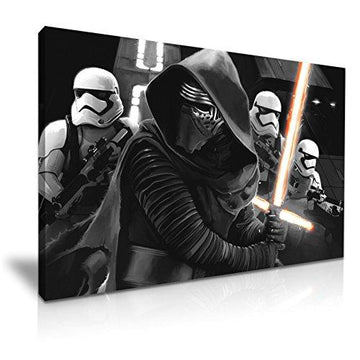 Star Wars Kylo Ren Canvas Wall Art Picture Print 76x50cm