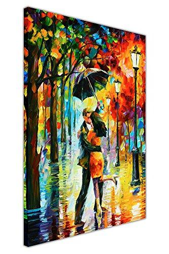 Canvas It Up NEW ABSTRACT DANCE UNDER THE RAIN BY LEONID AFREMOV ON CANVAS PICTURE WALL PRINTS MODERN ART POSTERS SIZE: 30