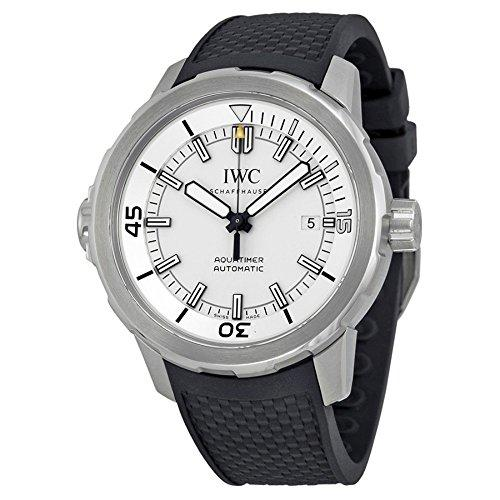 IWC MEN'S AQUATIMER 42MM BLACK RUBBER BAND STEEL CASE AUTOMATIC WATCH IW329003