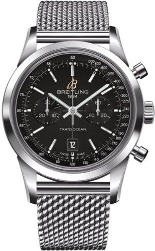Breitling Transocean A4131012-BC06171A 38mm Automatic Silver Steel Bracelet & Case synthetic sapphire Men's Watch