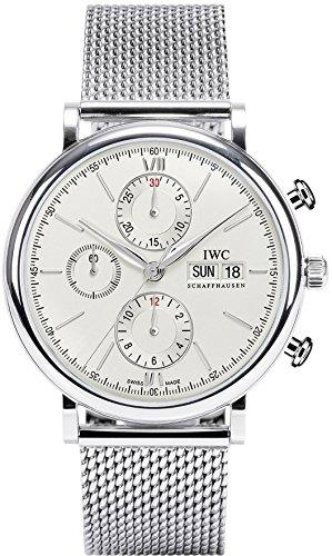 IWC Men's Portofino 42mm Steel Bracelet & Case Sapphire Crystal Automatic Silver-Tone Dial Watch IW391009