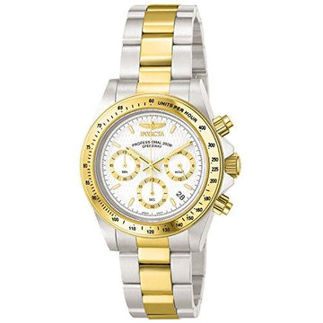 Invicta Speedway Men's Chronograph Quartz Watch with Stainless Steel Gold Plated Bracelet – 9212