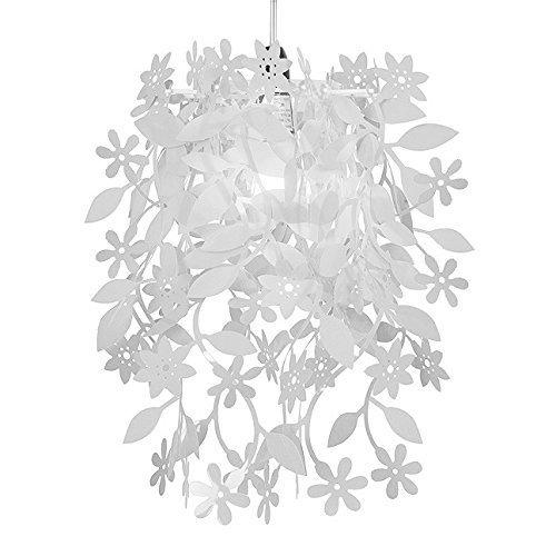 Beautiful White Floral Flowers And Leaves Dropping Chandelier Ceiling Pendant Light Shade