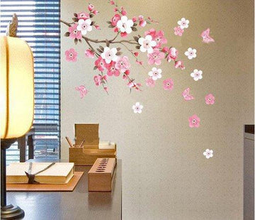 Wall Sticker Flowers Butterfly Decal Art DIY Home Wall Decor YHF-0110 S