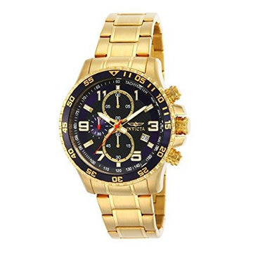 Invicta Specialty Men's Chronograph Quartz Watch with Stainless Steel Gold Plated Bracelet – 14878