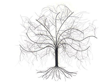 NEW - Contemporary Metal Wall Art Sculpture – Large Oak Tree