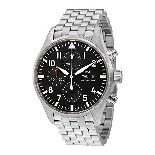IWC MEN'S PILOTS 43MM STEEL BRACELET & CASE AUTOMATIC ANALOG WATCH IW377710