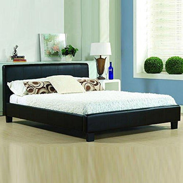 Italian Modern Designer Bed Pavia/Prado - Available in 2 sizes and 2 Colours (4FT6 Double, Black)