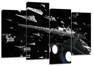 Star wars imperial navy/ set of 4 new canvas split prints 32