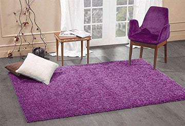 A2Z RUG SOFT SUPER THICK SHAGGY RUGS Purple 60X110 CM -2'X3'6''