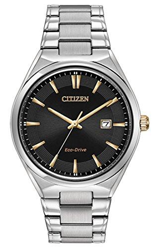 Citizen Watch Men's Quartz Watch with White Dial Analogue Display and White Stainless Steel Bracelet BM7310-56H