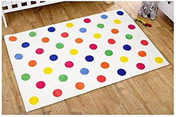 Kit for Kids Unisex Rug (Multi Colour, Polka Dot)
