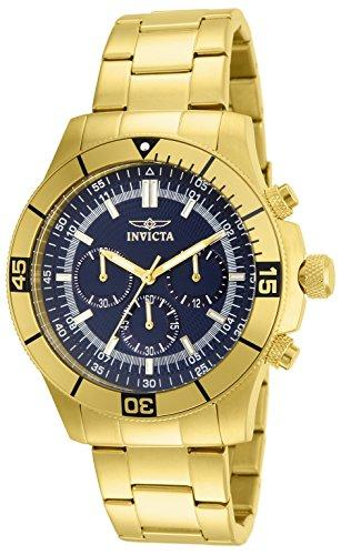 Invicta Specialty Men's Chronograph Quartz Watch with Stainless Steel Gold Plated Bracelet – 12844