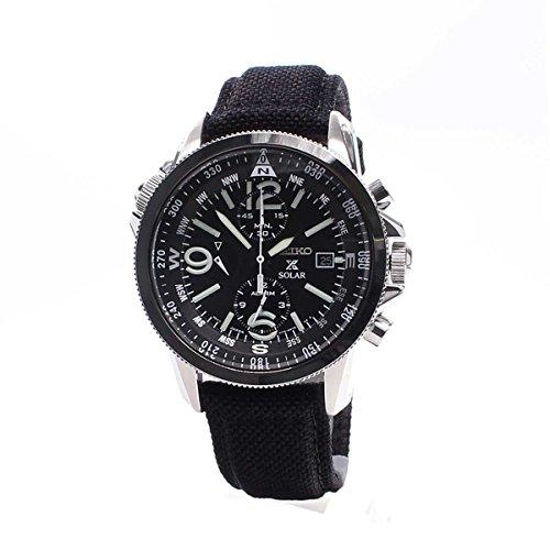 Seiko Men's Chronograph Quartz Watch with Fabric Strap – SSC293P2
