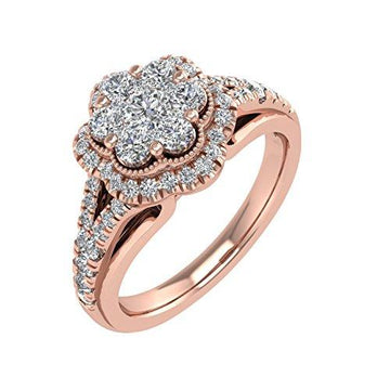IGI Certified 18K Rose Gold Diamond Engagement Ring Band (0.69 Carat)