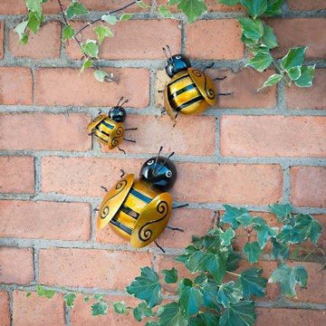 Graceful Bumble Bee 3 Pack Metal Wall Art Stunning Looks