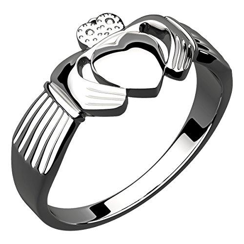 Sterling Silver Irish Claddagh Ring Symbolize Friendship, Love, Loyalty - 10