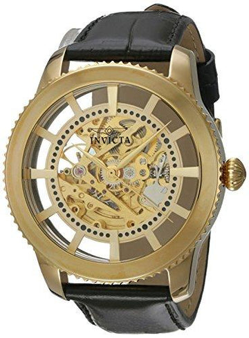 Invicta Vintage Men's Analogue Classic Automatic Watch with Leather Strap – 22571