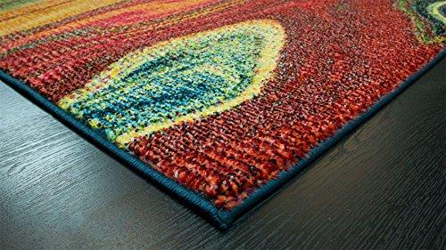 A2Z Rug Modern Colourful Contemporary Design Area Rugs Rio Collection 5707, Multi 160x230 cm - 5'2