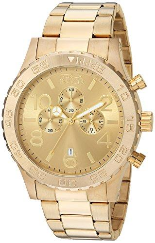Invicta Specialty Men's Chronograph Quartz Watch with Stainless Steel Gold Plated Bracelet – 1270