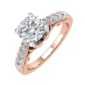 IGI Certified 18K Rose Gold Diamond Engagement Ring (1.02 carat)