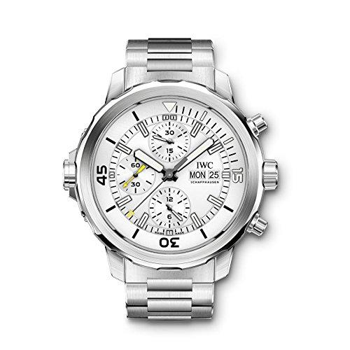 IWC Men's Aquatimer 44mm Steel Bracelet & Case Sapphire Crystal Automatic Silver-Tone Dial Watch IW376802