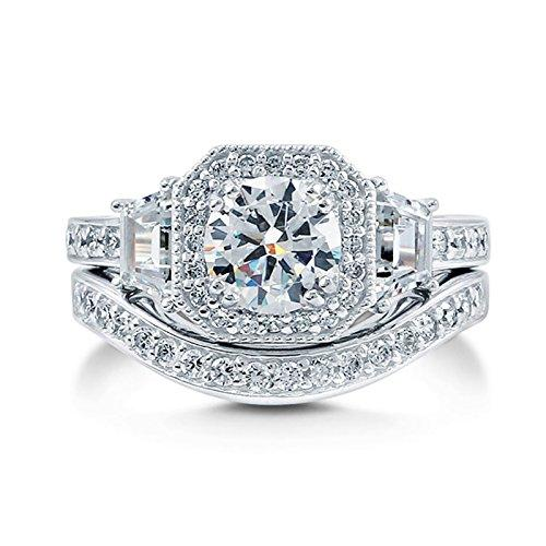 1.98 Ct Round Cut Moissanite Diamond Engagement Ring 14K White Gold Size J K L M N O P Q R S T