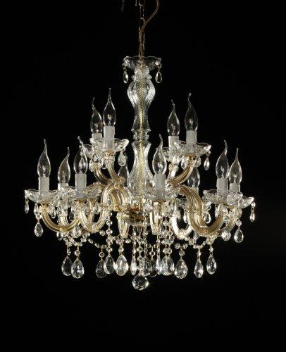 crystal chandelier 12 arms Ø60cm brass