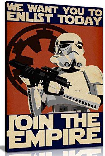 Star Wars Propaganda Enlist Join The Empire Canvas Wall Art Picture Print (24x16in)