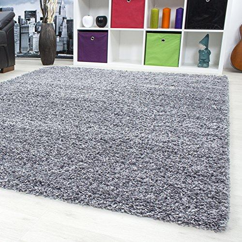 SMALL - EXTRA LARGE SIZE THICK MODERN PLAIN NON SHED SOFT SHAGGY RUGS CARPETS RECTANGLE & ROUND CARPETS COLORS ANTHRACITE BEIGE BROWN CREAM GREEN GREY LIGHTGREY PURPLE RED TERRA NAVY RUGS, Size:160x230 cm, Color:Lightgrey