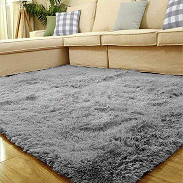 Weimanshop Soft Contemporary Carpet Floor Mat Cozy Shaggy Rug Living Room Bedroom Decor 31.5
